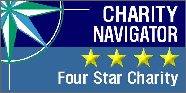 Charity Navigator Logo with four stars
